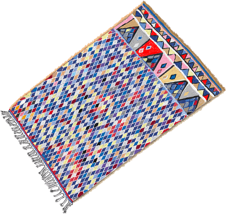 Beni Ourain Rug Custom Artwork Image V01